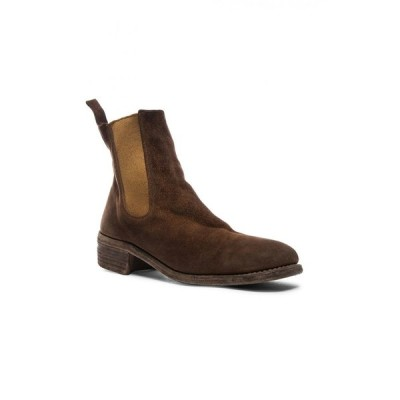 グイディ Guidi メンズ ブーツ チェルシーブーツ シューズ・靴 stag chelsea boots Brown