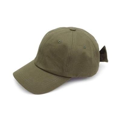 Aness (アネス) バックリボン キャップ SSキャップ ローキャップ cap レディース 綿 カジュアル 帽子 春 夏 p425 (カーキ)