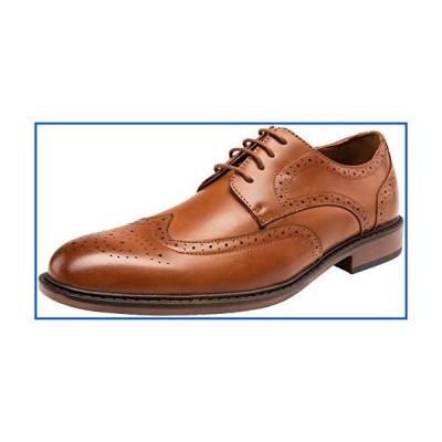 【新品】JOUSEN Men's Dress Shoes Classic Brogue Lightweight Oxford Business Brown Wingtip Shoes(MY625 Brown 8)【並行輸入品】