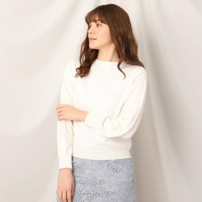 クチュール ブローチ Couture brooch シルク混バックリボンニット (オフホワイト)