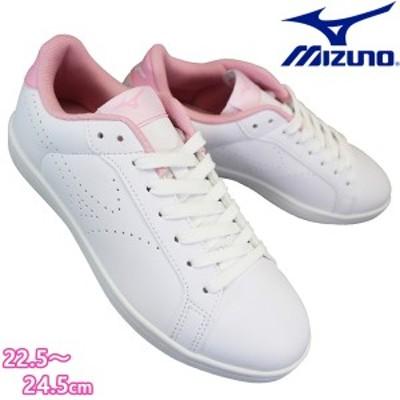 ミズノCW1 MIZUNO CW1 D1GA208465 ホワイト/ピンク レディース  スニーカー 通学スニーカー  通学靴