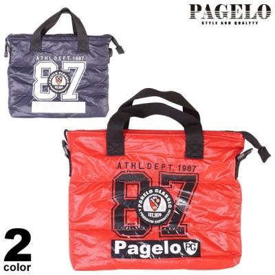 PAGELO パジェロ 2wayバッグ メンズ 2020秋冬 プリント ロゴ ショルダーバッグ 軽量 p0-0215-07