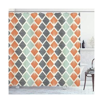 180cm W By 190cm L Multi 10  Geometric Decor Shower Curtain by Ambesonne Po