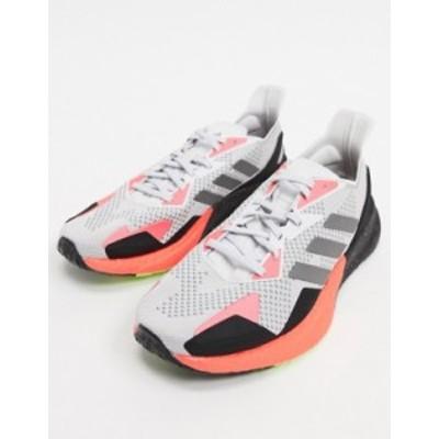 アディダス メンズ スニーカー シューズ adidas Training X9000L3 sneakers in gray and orange Grey
