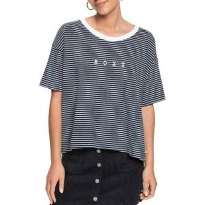 ロキシー レディース シャツ トップス Roxy Women's Infinity Is Beautiful Tee Short Sleeve T-Shirt Mood Indigo Me Stripes