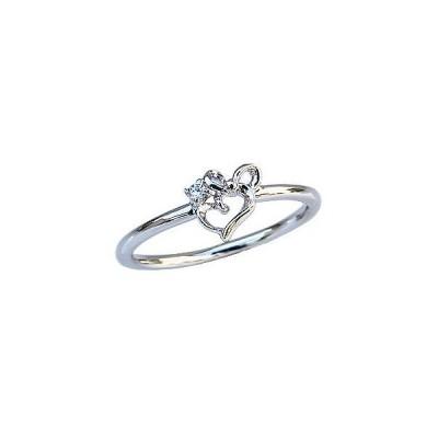 ダイヤモンドリング ピンキーリング ダイヤモンド指輪 ダイヤモンド ハートモチーフ リボンモチーフ 送料無料 アクセサリー 記念日 プレゼント ギフト 人気