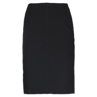 テル エ バンティーヌ TER ET BANTINE ひざ丈スカート ブラック 46 バージンウール 99% / ポリウレタン 1% ひざ丈スカート