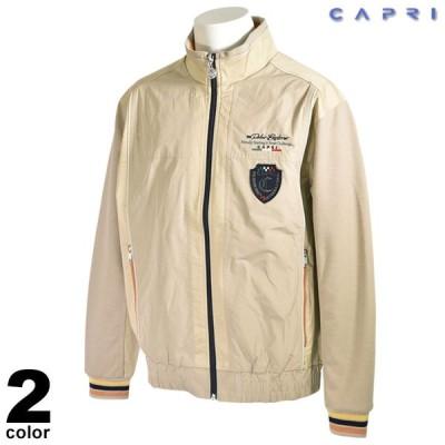 セール 80%OFF CAPRI カプリ ブルゾン メンズ 秋冬 ワッペン 袖リブ ジップアップ ロゴ 3131-3002