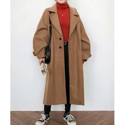 Jewelobe / ワイドラペルラグランコート WOMEN ジャケット/アウター > チェスターコート
