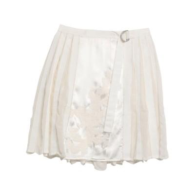 ERMANNO DI ERMANNO SCERVINO ミニスカート ホワイト 40 レーヨン 100% / ナイロン / ポリエステル ミニスカート
