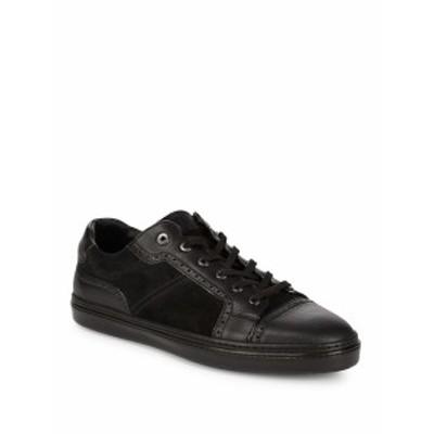 ブリオーニ メンズ スニーカー Suede &amp Leather Brouge Sneakers