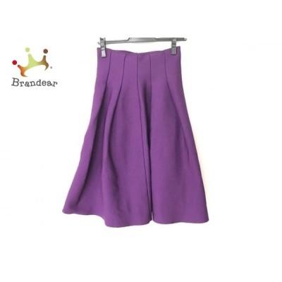 ルシェルブルー LE CIEL BLEU スカート サイズ36 S レディース 美品 パープル 新着 20200422