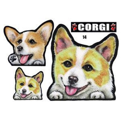 犬 ステッカー/コーギー14/犬/シール/グッズ/ネーム入れ不可/愛犬/雑貨/ペット/車/犬雑貨
