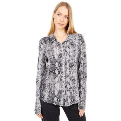 ユニセックス シャツ トップス Harley Snake Print Ultra Jersey Knit Shirting
