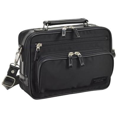 ショルダーバッグ メンズ A5ファイル 肩掛け 斜めがけ ビジネスバッグ 男性用 日本製 豊岡製鞄 ツイルナイロン 軽量 旅行 横型 黒 紺 41cm