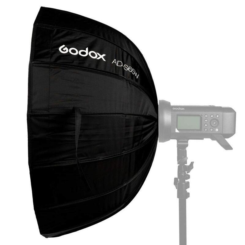 【中壢NOVA-水世界】神牛 Godox 65cm AD-S65W 摺傘式 白色柔光罩 柔光傘 適用 AD400 Pro