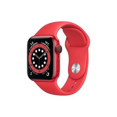 Apple Watch Series 6 GPS+Cellularモデル 40mm (PRODUCT)REDアルミニウムケースと(PRODUCT)REDスポーツバンド レギュラー M06R3J/A