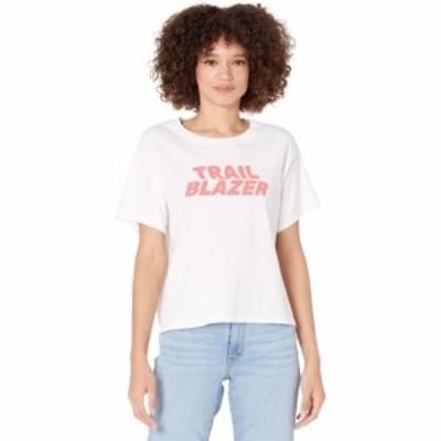 リーバイス Levis Premium レディース ベアトップ・チューブトップ・クロップド トップス Graphic Crop Tee Trail Blazer White