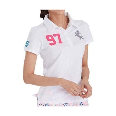 7227 WHxPK S 97番ポロシャツ ホワイト 小さいサイズ S 鹿の子ポロシャツ コットン100 半袖 デルソル ゴルフウェア レディース