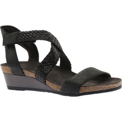 ナオト Naot レディース サンダル・ミュール ウェッジソール シューズ・靴 Cupid Strappy Wedge Oily Coal Nubuck/Black Braid