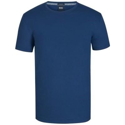 ヒューゴボス Tシャツ トップス メンズ BOSS Men's Regular/Classic-Fit Cotton T-Shirt Navy
