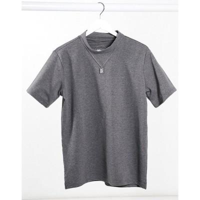 ネイティブユース 半袖Tシャツ メンズ Native Youth adrian waffle t-shirt in grey エイソス ASOS グレー 灰色