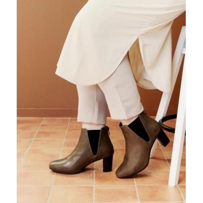 SOROTTO / 4E幅広 スクエアトゥサイドゴアブーツ WOMEN シューズ > ブーツ