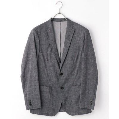 ジャケット テーラードジャケット 《ウォッシャブル》 セットアップ リネンライクプリント ジャケット