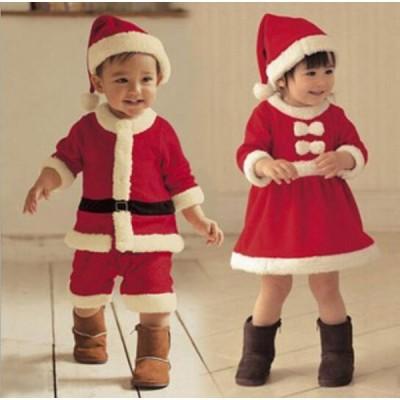 クリスマス サンタ 仮装 コスプレ 子供 コスチューム サンタクロース 子供サンタ ベビーサンタ  女の子 男の子 可愛い 大いサイズ