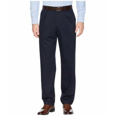 ドッカーズ メンズ カジュアルパンツ ボトムス Classic Fit Signature Khaki Lux Cotton Stretch Pants D3 - Pleated Dockers Navy