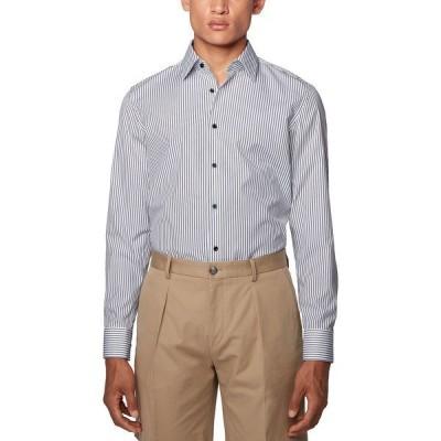 ヒューゴボス シャツ トップス メンズ BOSS Men's Jano Blue Shirt Dark Blue