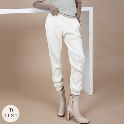 「DINT」★送料無料★P2351 ベルベットコーデュロイパンツ セレブ系オフィススタイル 韓国ファッションブランドDINTのオシャレなオフィススタイル提案!