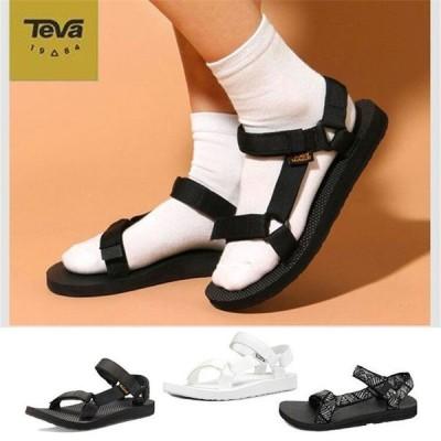 TEVA テバ ORIGINAL UNIVERSAL オリジナルユニバーサル メンズ サンダル 黒 白 ぺたんこ おでかけ 旅行 父の日