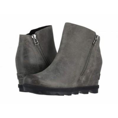 SOREL ソレル レディース 女性用 シューズ 靴 ブーツ アンクル ショートブーツ Joan of Arctic(TM) Wedge II Zip Quarry【送料無料】