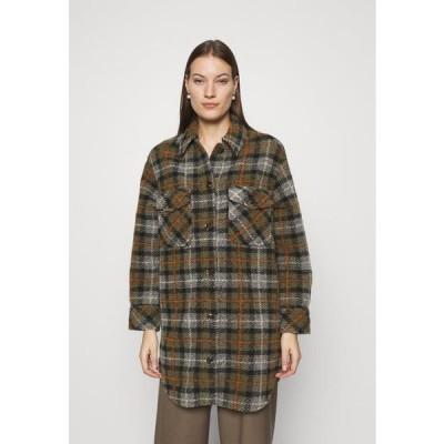 レディース ファッション GALATEA OVERSHIRT - Short coat - olive/grey