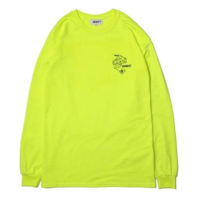 HAIGHT ヘイト 長袖 Tシャツ メンズ ストリート ブランド ロンT 長そで SMOKE MAGICIAN L/S TEE FT RAT HOLE STUDIO HT-RH201003 NEON YELLOW ネオンイエロー