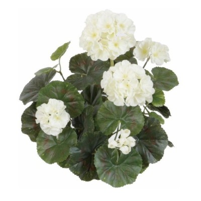 観葉植物 造花 ゼラニウム(ホワイト) 35cm 人工観葉植物 フェイクグリーン 光触媒 CT触媒 インテリア