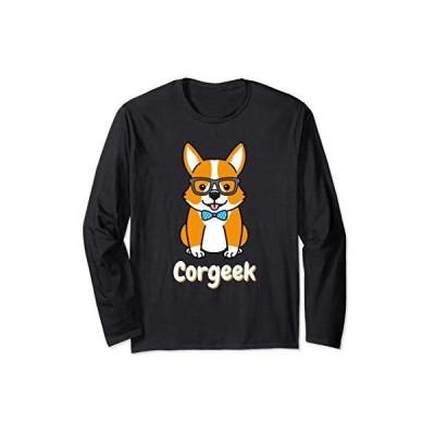 Corgeek - おかしいコーギー犬オタク メンズL:長袖Tシャツ