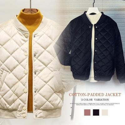 中綿 コート ショート ジャケット レディース 薄手  無地 お洒落 着痩せ カジュアル冬服 あったか アウター 防風 おしゃれ