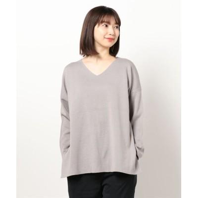 tシャツ Tシャツ ミラノリブVネックニットプルオーバー