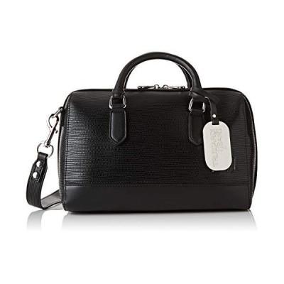 Trussardi Jeans T-easy City Handle Bag Md Saff Women's Top-Handle Bag, Black, 30x20x16 centimeters (W x H x L) 並行輸入品
