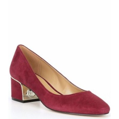 マイケルコース レディース ヒール シューズ MICHAEL Michael Kors Lana Suede Block Heel Pumps Dark Berry