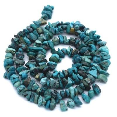 連50cm 本トルコ石 細石 さざれ ターコイズ 天然石 ハンドメイド 素材 パーツ ポイント消化 ※含浸処理していません