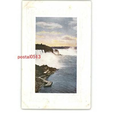 XyO1473】 アメリカ ナイアガラの滝? *傷み有り 【アンティーク絵葉書