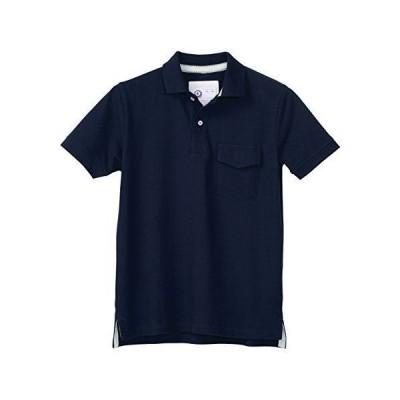 クロダルマ 26447 半袖ポロシャツ 脇スリット ネイビー 3L
