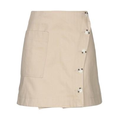 WOOD WOOD ひざ丈スカート ベージュ 38 コットン 100% ひざ丈スカート