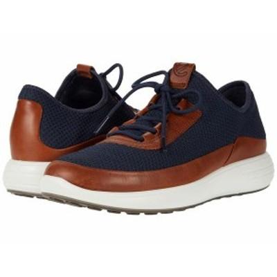 エコー メンズ スニーカー シューズ Soft 7 Runner Summer Sneaker Amber/Marine