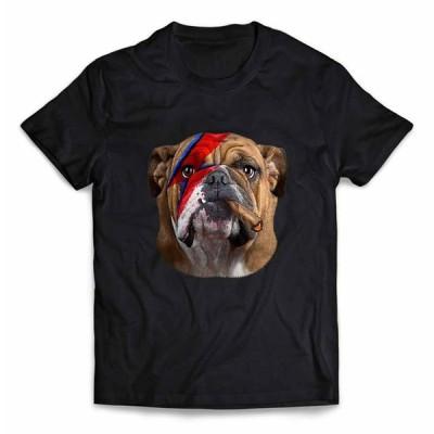 【ブルドッグ ドッグ 犬 いぬ 稲妻 マーク】メンズ 半袖 Tシャツ by Fox Republic