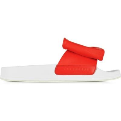 ロベール クレジュリー Robert Clergerie レディース サンダル・ミュール シューズ・靴 Wendy Blood Orange Leather Slide Sandals w/White Sole Orange