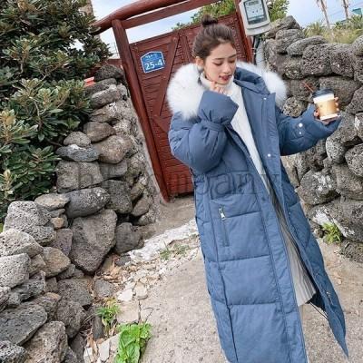 防寒中綿コートレディースロングコート韓流ゆったりbf2020冬新品chicジャケット冬中綿アウター